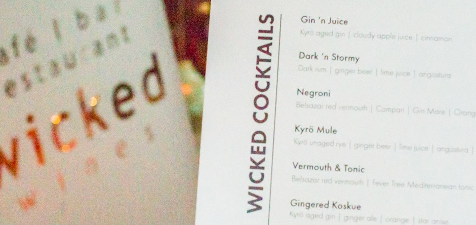 Wicked Wines - cocktails